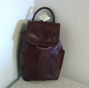 I Medici Brown Genuine Leather Backpack.